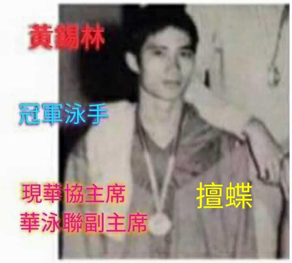 黃錫林 - 年青時泳員照片